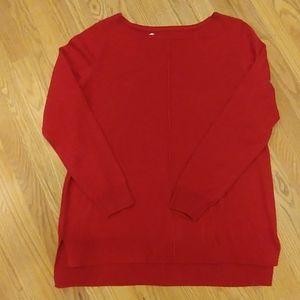 🎄NWT Croft & Barrow Red LS Sweater Medium